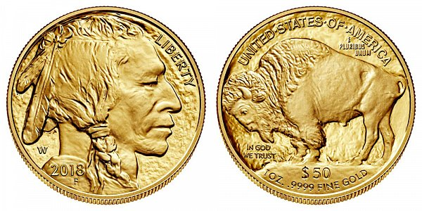 2018 W Proof One Ounce Gold American Buffalo - 1 oz Gold $50