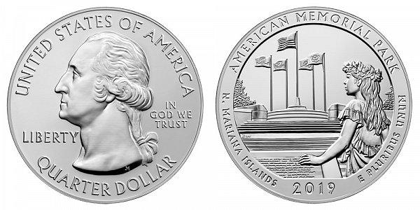 2019 American Memorial Park 5 Ounce Bullion Coin - 5 oz Silver