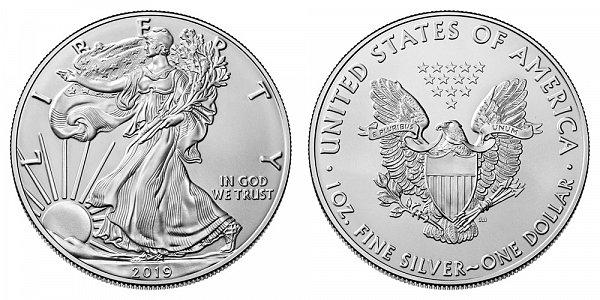 2019 Bullion American Silver Eagle