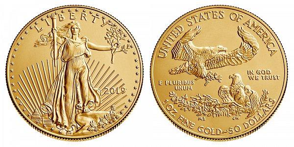 2019 Bullion One Ounce American Gold Eagle - 1 oz Gold $50