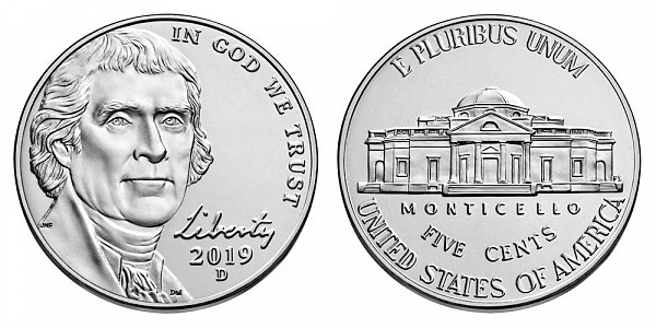 2019 D Jefferson Nickel