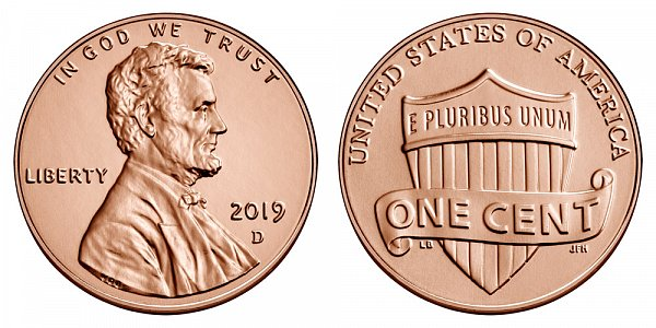 2019 D Lincoln Shield Cent Penny