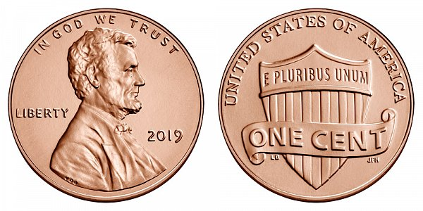 2019 P Lincoln Shield Cent Penny