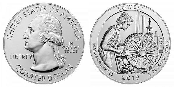 2019 Lowell 5 Ounce Bullion Coin - 5 oz Silver