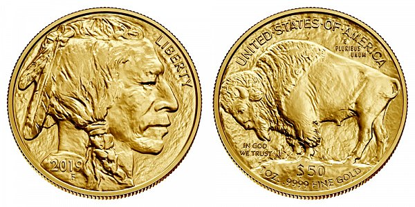 2019 One Ounce Gold American Buffalo - 1 oz Gold $50