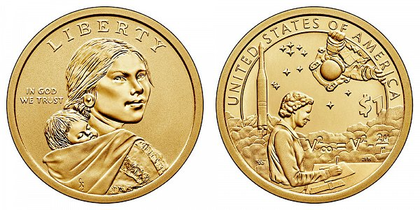 2019 P Enhanced Uncirculated Sacagawea Native American Dollar - American Indians In The Space Program