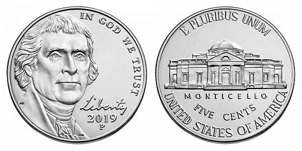 2019 P Jefferson Nickel