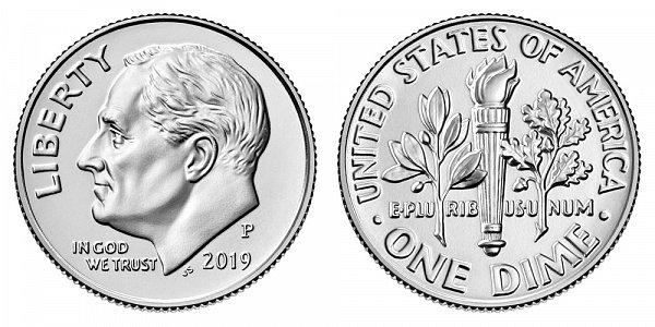 2019 P Roosevelt Dime