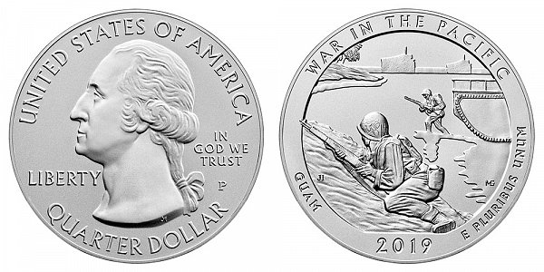 2019 P War In The Pacific 5 Ounce Burnished Uncirculated Coin - 5 oz Silver