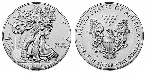 2019 S Enhanced Reverse Proof American Silver Eagle