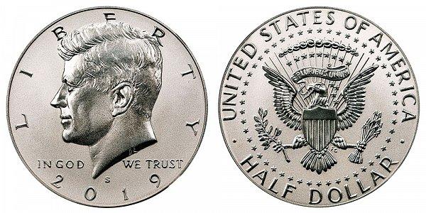2019 S Enhanced Reverse Proof Kennedy Half Dollar