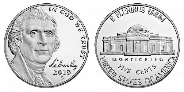 2019 S Proof Jefferson Nickel