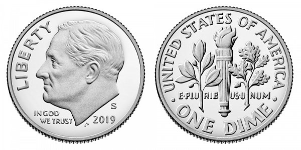 2019 S Proof Roosevelt Dime