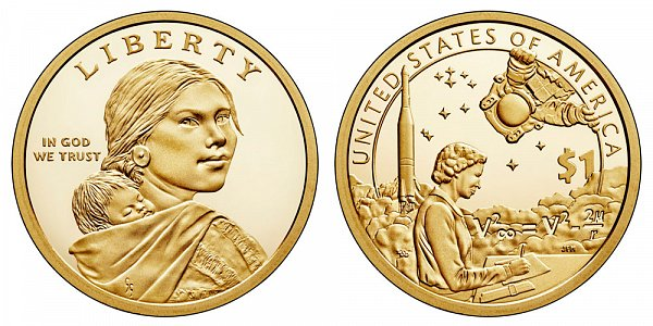 2019 S Proof Sacagawea Native American Dollar - American Indians In The Space Program