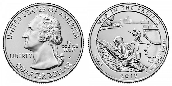 2019 S Uncirculated War In The Pacific National Historical Park Quarter - Guam