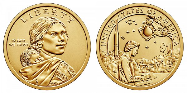2019 D Sacagawea Native American Dollar - American Indians In The Space Program