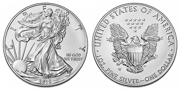 2019 W Burnished Uncirculated American Silver Eagle