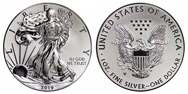 2019 W Enhanced Reverse Proof American Silver Eagle