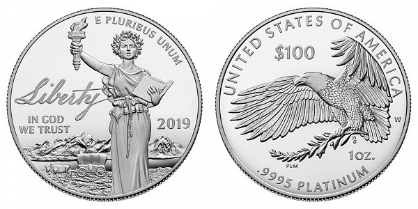 2019 W Proof One Ounce American Platinum Eagle - 1 oz Platinum $100