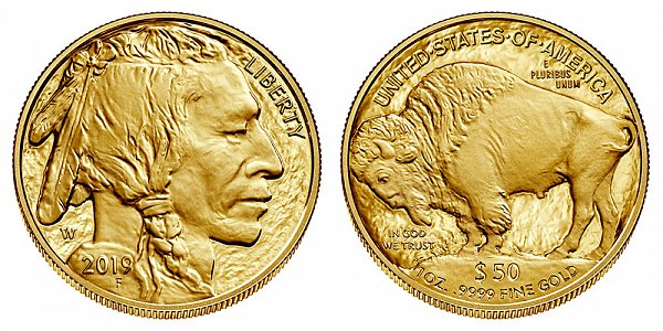 2019 W Proof One Ounce Gold American Buffalo - 1 oz Gold $50