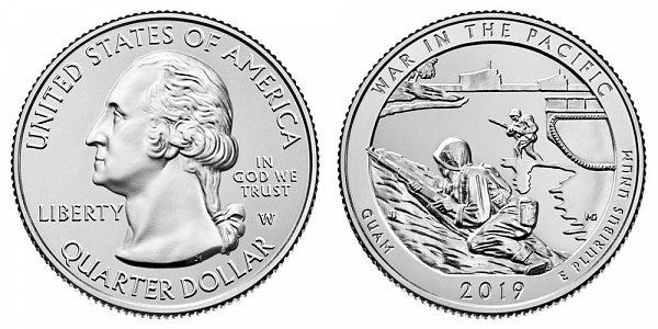 2019 W War In The Pacific National Historical Park Quarter - Guam