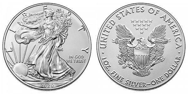 2020 (P) Bullion American Silver Eagle