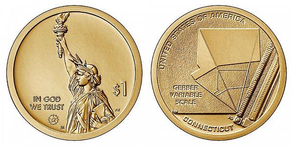2020 D Connecticut American Innovation Dollar