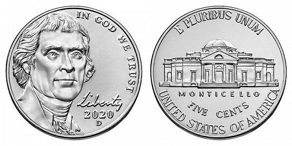 2020 D Jefferson Nickel