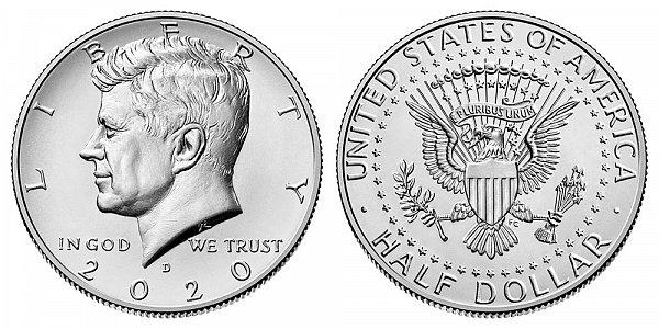 2020 D Kennedy Half Dollar