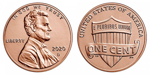 2020 D Lincoln Shield Cent Penny