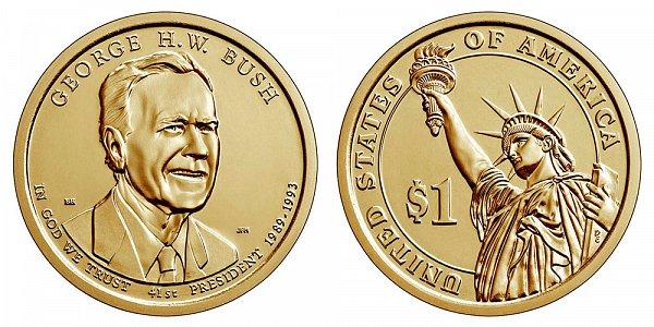 2020 D George H.W. Bush Presidential Dollar