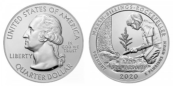 2020 Marsh-Billings-Rockefeller 5 Ounce Bullion Coin - 5 oz Silver