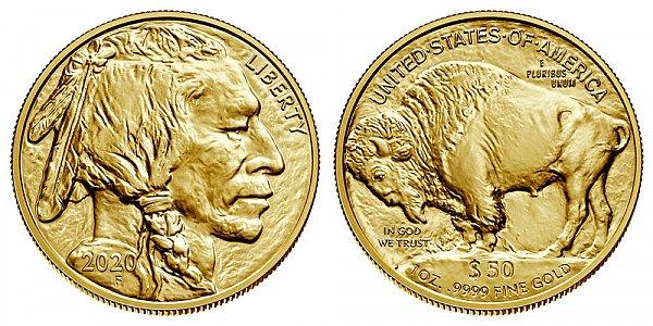 2020 One Ounce Gold American Buffalo - 1 oz Gold $50