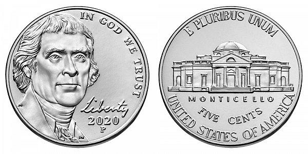 2020 P Jefferson Nickel