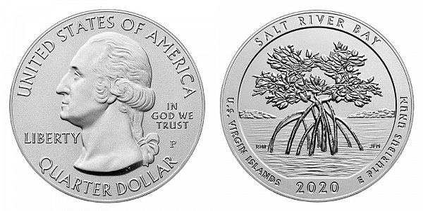 2020 P Salt River Bay 5 Ounce Burnished Uncirculated Coin - 5 oz Silver