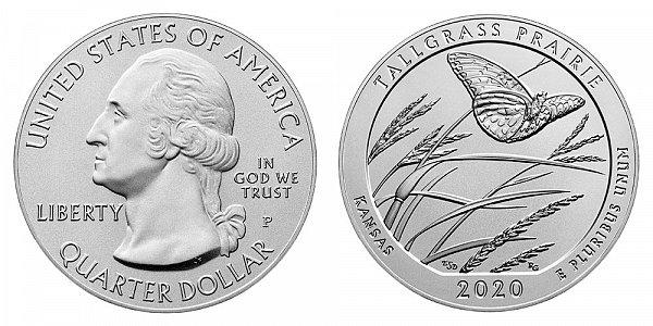 2020 P Tallgrass Prairie 5 Ounce Burnished Uncirculated Coin - 5 oz Silver