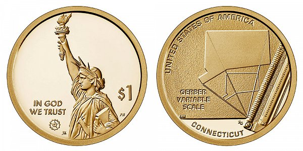 2020 S Proof Connecticut American Innovation Dollar