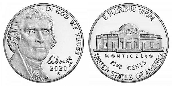 2020 S Proof Jefferson Nickel