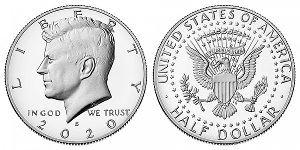 2020 S Silver Proof Kennedy Half Dollar