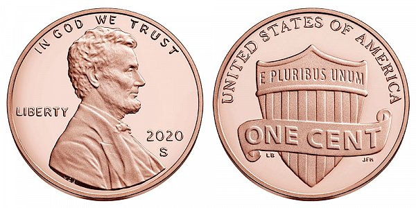 2020 S Proof Lincoln Shield Cent Penny
