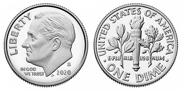 2020 S Proof Roosevelt Dime