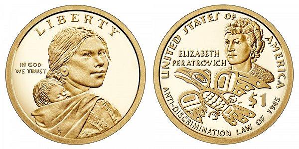 2020 S Proof Sacagawea Native American Dollar - Anti-Discrimination Law Of 1946