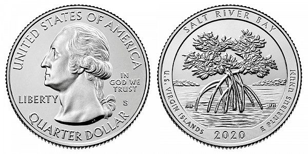2020 S Uncirculated Edition Salt River Bay Quarter - US Virgin Islands