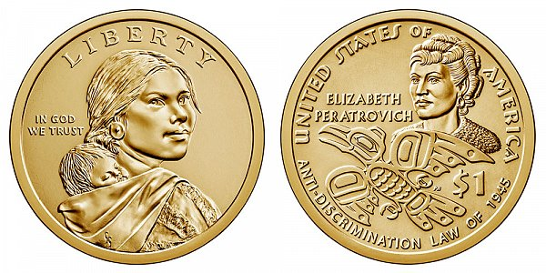 2020 P Sacagawea Native American Dollar - Anti-Discrimination Law Of 1945