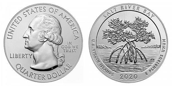 2020 Salt River Bay 5 Ounce Bullion Coin - 5 oz Silver