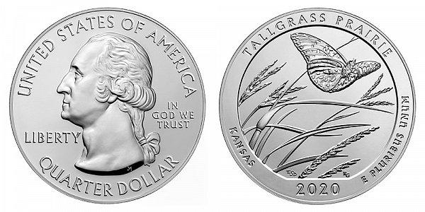 2020 Tallgrass Prairie 5 Ounce Bullion Coin - 5 oz Silver