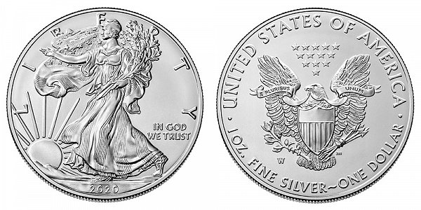 2020 W Burnished Uncirculated American Silver Eagle