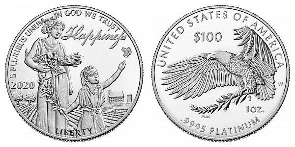 2020 W Proof One Ounce American Platinum Eagle - 1 oz Platinum $100