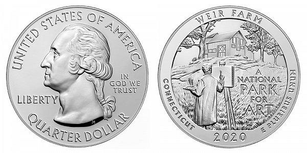 2020 Weir Farm 5 Ounce Bullion Coin - 5 oz Silver