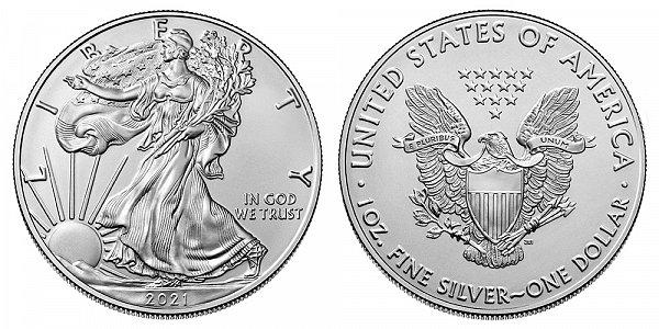 2021 Bullion American Silver Eagle